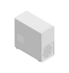 Computer chassis detailed isometric icon vector