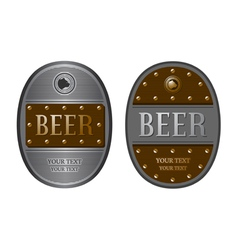 Two oval beer labels vector