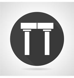 Arch black round icon vector