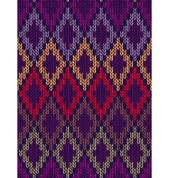 Knit woolen seamless jacquard ornament texture vector