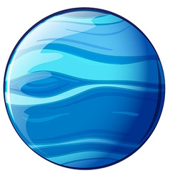 A blue planet vector