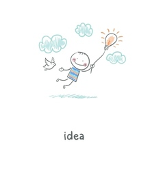 Flight of ideas vector