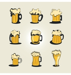 Beer collection vector