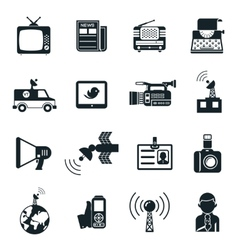 News and media icons vector