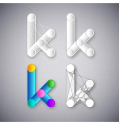 Abstract combination of letter k vector