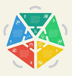 Infographics of business concept with 5 options vector