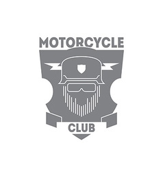Vintage motorcycle labels badges or logo with vector