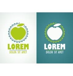 Apple icon or logo template vector