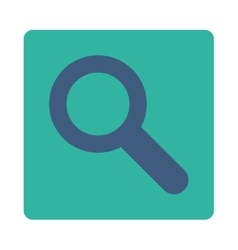 Search flat cobalt and cyan colors rounded button vector