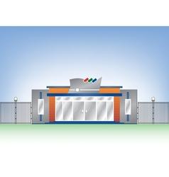Building industrial facade vector