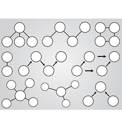White topic diagrams vector