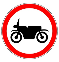 No motorcycle road sign vector