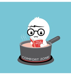 Comfort zone conceptual cartoon vector