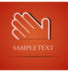Hand background vector