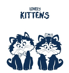 Lovely kittens vector