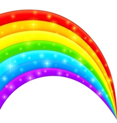 Plastic bright shining rainbow vector