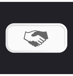 Black icon handshake vector