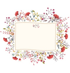 Retro flower for wedding invitation vector