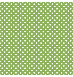 Seamless green polka dot vector