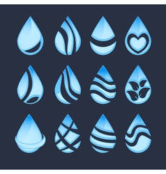 Water drop symbols vector
