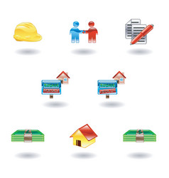 Shiny real estate icons vector