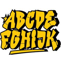 Graffiti style font type alphabet part 1 vector