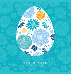 Blue and yellow flowersilhouettes easter vector