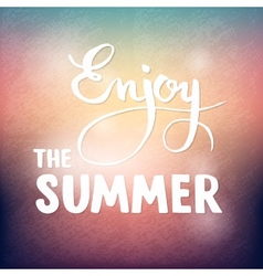 Summer calligraphic design element for poster or vector