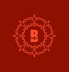 Simple monogram b vector