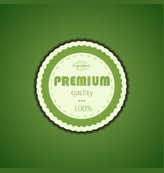 Premium quality assurance sticker vector