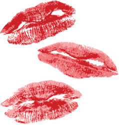 Lips imprint vector