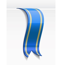 Blue bookmark decoration ribbon vector