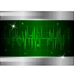 Oscilloscope background vector