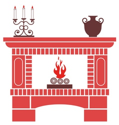 Fireplace vector