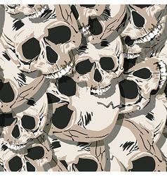 Grunge seamless skulls pattern vector