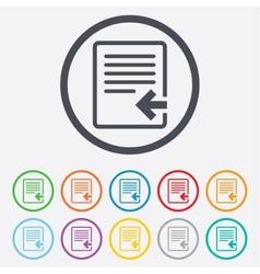 Import file icon file document symbol vector