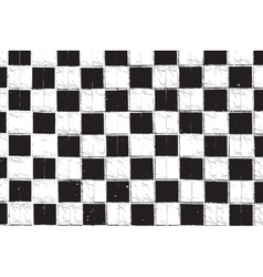 Checkered grunge vector