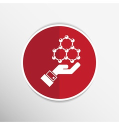 Checkmark on hand web icon design vector