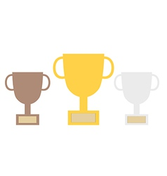 Champion cup graphic vector