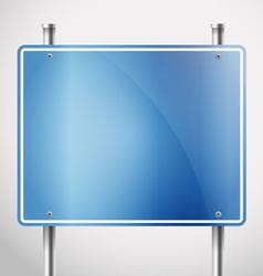 Blank metal information board template vector