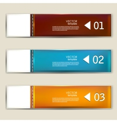 Set of bookmarks stickers labels tags numbered vector