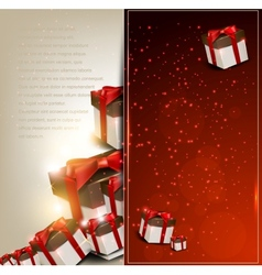 Elegance background with christmas gifts vector