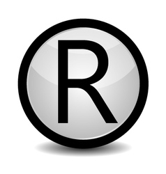 Registered trademark - icon vector