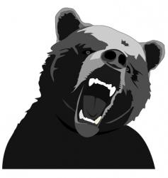Angry bear stencil vector