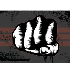 Hand punch vector