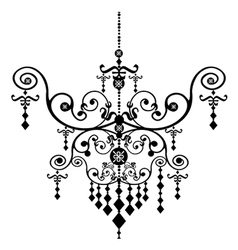 Chandelier design vector