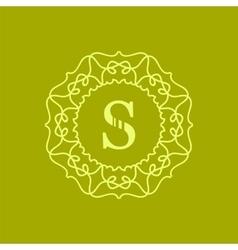 Simple monogram s vector