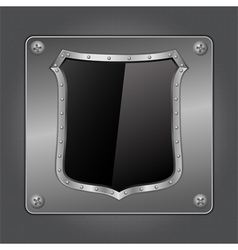 Black shield vector