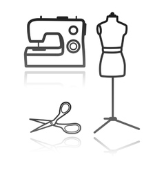 Tailors equipment vector