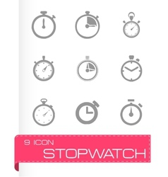 Stopwatch icon set vector